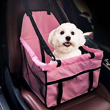 قط كلب سيارة مقعد الغطاء حزمة الكلب حيوانات أليفة حاملات المحمول مزدوج متنفس قابلة للطى تدليك ناعم خيمة الكاميرا سادة رمادي زهري