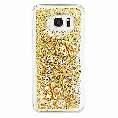 Pouzdro Uyumluluk Samsung Galaxy S7 edge S7 Akan Sıvı Temalı Arka Kılıf Kelebek Yumuşak TPU için S7 edge S7 S6 edge S6 S5