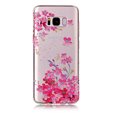 Etui Käyttötarkoitus Samsung Galaxy S8 Plus S8 IMD Läpinäkyvä Kuvio Takakuori Kukka Pehmeä TPU varten S8 Plus S8 S7 edge S7 S6 edge S6 S5
