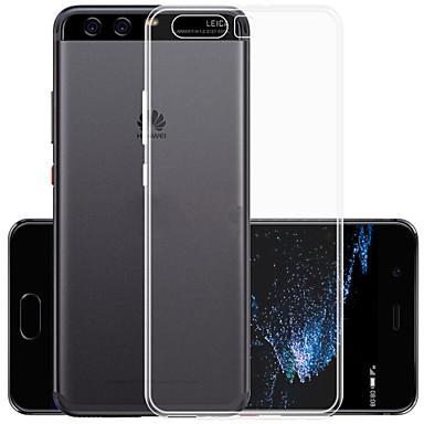Kılıf Na Huawei Ultra cienkie Przezroczyste Czarne etui Solid Color Miękkie TPU na P10 Plus Huawei
