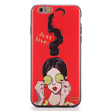 Kılıf Na Apple iPhone 7 Plus iPhone 7 Wzór Czarne etui Seksowna dziewczyna Miękkie TPU na iPhone 7 Plus iPhone 7 iPhone 6s Plus iPhone 6s