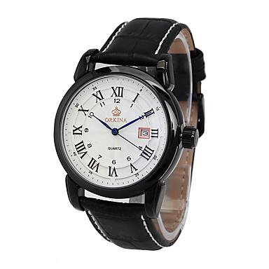 Bărbați Quartz Ceas de Mână cald Vânzare Piele Bandă Charm Casual Modă Negru Maro