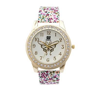 Dames Modieus horloge Kwarts PU Band Groen Meerkleurig