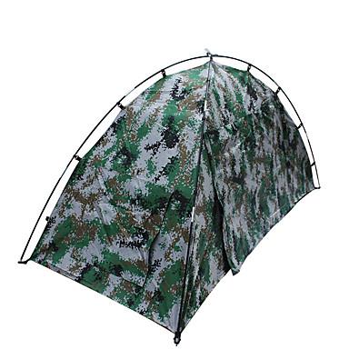 1 Person Zelt Doppel Camping Zelt Einzimmer Falt-Zelt Wasserdicht Tragbar Regendicht für Wandern Camping 1500-2000 mm Glasfaser Oxford CM