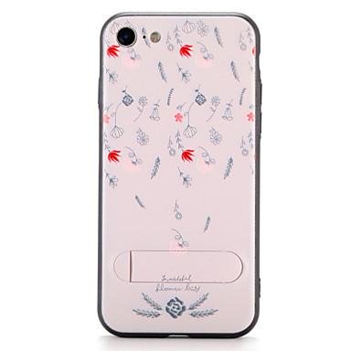 Pouzdro Uyumluluk iPhone 7 Plus iPhone 7 iPhone 6s Plus iPhone 6 Plus iPhone 6s iPhone 6 Apple Satandlı Temalı Arka Kapak Çiçek Sert PC