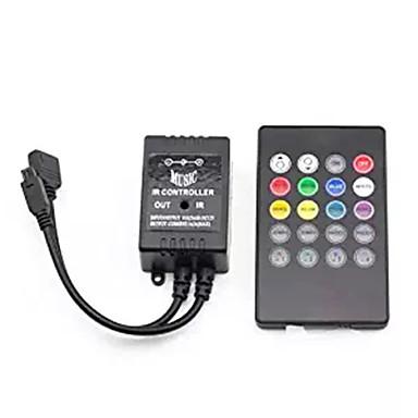 سوبيرنيت الأشعة تحت الحمراء تحكم الموسيقى 20 مفاتيح إر تحكم عن بعد استشعار الصوت المراقب المالي ل 5050 3528 5630 رغب ليد قطاع الخفيفة مرنة