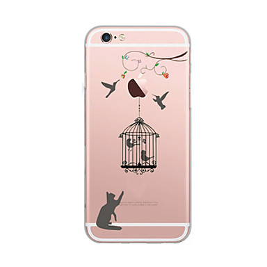 Voor iPhone X iPhone 8 Hoesje cover Ultradun Patroon Achterkantje hoesje Kat Zacht TPU voor Apple iPhone X iPhone 7s Plus iPhone 8 iPhone
