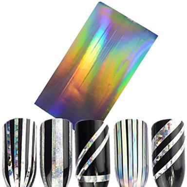 1pcs Glitter i Poudre Naklejki 3D na paznokcie Taśma do zdejmowania folii Modny Codzienny Wysoka jakość