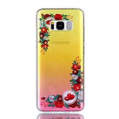غطاء من أجل Samsung Galaxy S8 Plus S8 حجر كريم IMD شبه شفّاف نموذج غطاء خلفي جملة / كلمة قلب زهور قاسي PC إلى S8 S8 Plus S7 edge S7