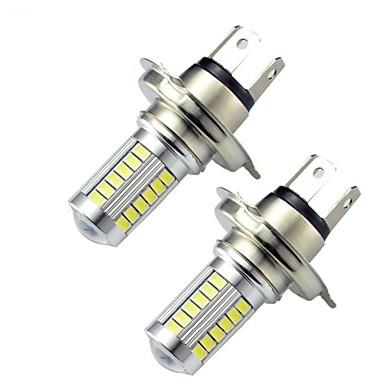 2 قطع h4 5630 33smd ليد سيارة بدوره إشارة أضواء الفرامل درل القيادة مصباح أبيض اللون السيارات المصابيح dc12-24v