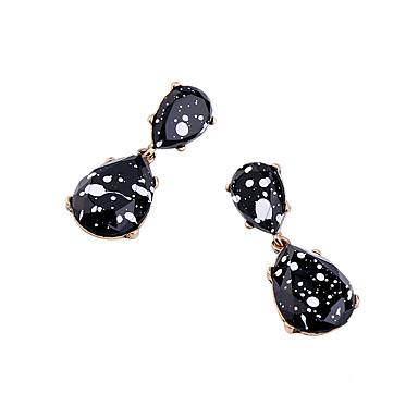 Kolczyki na sztyft Unikalny Modny Osobiste Kropla Black Biżuteria Na Ślub Impreza 1 para