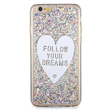 Voor apple iphone7 7 plus case cover patroon back cover case glitter shine woord / zin hart zacht tpu 6s plus 6 plus 6s 6