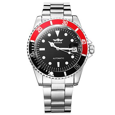 WINNER Homens Relógio Elegante Relógio de Pulso relógio mecânico Automático - da corda automáticamente Calendário Luminoso Aço Inoxidável
