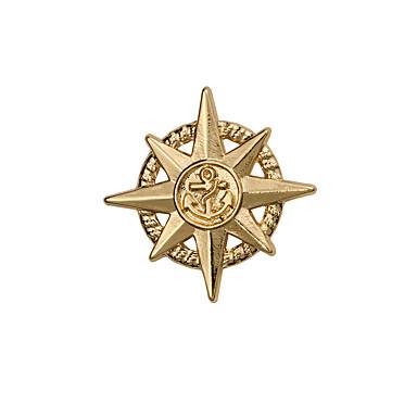 للرجال اخرى دبابيس مخصص euramerican في مطلية بالذهب سبيكة نجمة مرساة مجوهرات من أجل زفاف حزب يوميا فضفاض
