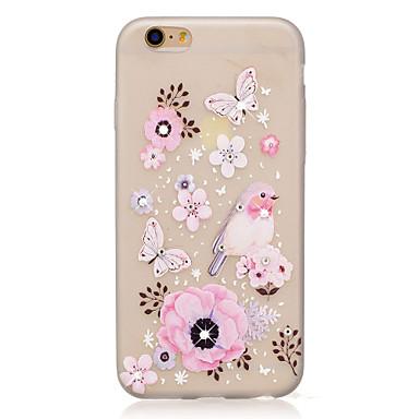 Maska Pentru Apple Stras Stralucire in intuneric Model Carcasă Spate Fluture Floare Moale TPU pentru iPhone 7 Plus iPhone 7 iPhone 6s