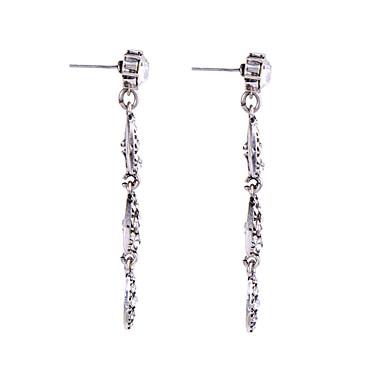 Κρίκοι Κρυστάλλινο Λατρευτός Εξατομικευόμενο χαριτωμένο στυλ Euramerican Ασημί Κοσμήματα Για Γάμου Πάρτι Γενέθλια 1 ζευγάρι