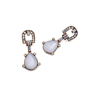 Halka Küpeler Kristal Kişiselleştirilmiş Euramerican minimalist tarzı Beyaz Mücevher Için Düğün Parti Doğumgünü 1 çift