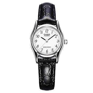 Casio Dames Modieus horloge Japans Kwarts Waterbestendig Leer Band Bedeltjes Vrijetijdsschoenen Zwart