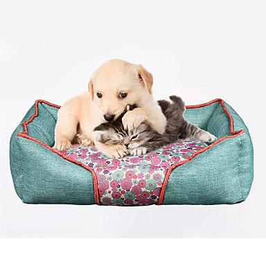 Pisici Câine Paturi Animale de Companie  Rogojini & Pernuțe Floare Απαλό Rosu Albastru Pentru animale de companie
