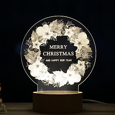 1pc creatoare de lumina de noapte de Crăciun