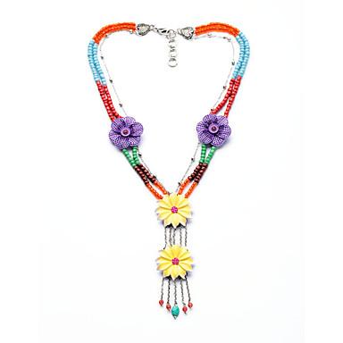Kadın's Uçlu Kolyeler Flower Shape Kişiselleştirilmiş sevimli Stil Gökküşağı Mücevher Için 1pc