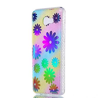 hoesje Voor Samsung Galaxy J7 (2016) J5 (2016) Schokbestendig Beplating Doorzichtig Patroon Achterkantje Bloem Zacht TPU voor J7 (2016)