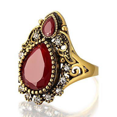 Dames Statementringen Ring Gepersonaliseerde Luxe Uniek ontwerp Vintage Modieus Euramerican Opvallende sieraden Hars Legering Rond