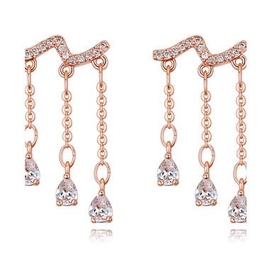 Damen Tropfen-Ohrringe Kubikzirkonia Luxus Anhänger Stil Bikini Modisch Schmuck mit Aussage Sterling Silber Kubikzirkonia Kupfer vergoldet