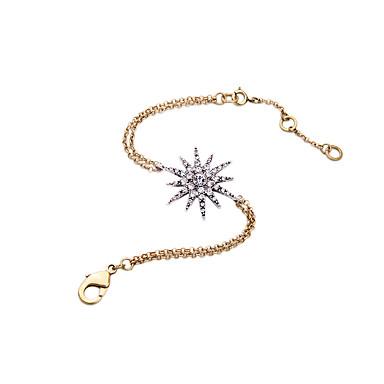 Kadın's Zincir & Halka Bileklikler Mücevher Arkadaşlık Moda alaşım Star Shape Mücevher Uyumluluk Doğumgünü