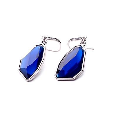Kolczyki koła Kryształ Osobiste Geometric Shape Dark Blue Biżuteria Na Ślub Impreza Urodziny 1 para