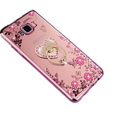 غطاء من أجل Samsung Galaxy S8 Plus S8 حجر كريم حامل الخاتم شبه شفّاف اصنع بنفسك غطاء خلفي زهور ناعم TPU إلى S8 Plus S8