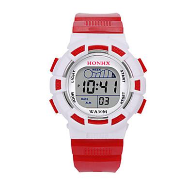 Dames Kinderen Sporthorloge Digitaal horloge Chinees Digitaal Silicone Band Blauw Rood Geel