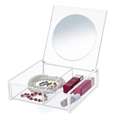 صناديق التخزين منظمو المضمد منظمو خزانة منظمو المجوهرات صندوق المجوهرات تخزين الماكياج منظمو سطح المكتب البلاستيك زجاج معميزة هو للسفر ,