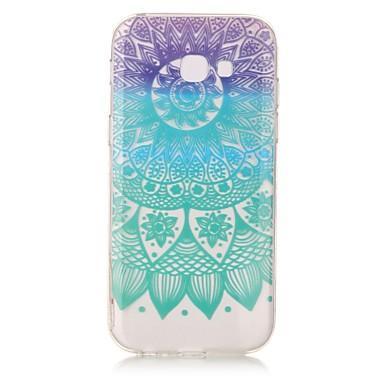 Maska Pentru Samsung Galaxy A5(2017) A3(2017) IMD Transparent Model Carcasă Spate Mandala Moale TPU pentru A3 (2017) A5 (2017) A5(2016)