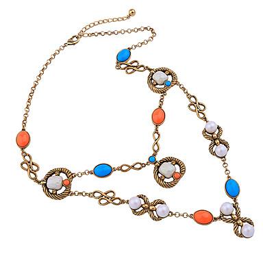 Damskie Warstwy Naszyjniki Kryształ Osobiste Słodkie Style euroamerykańskiej Gold Biżuteria Na Ślub Impreza 1szt