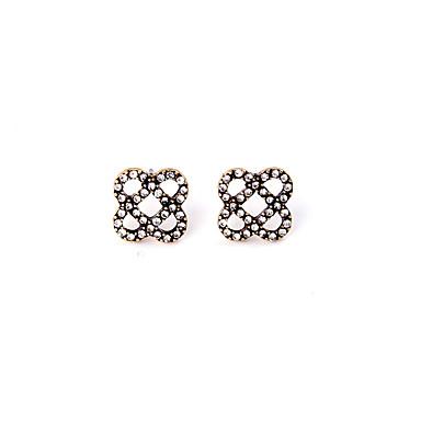 Vidali Küpeler Kristal Moda Kişiselleştirilmiş Flower Shape Beyaz Mücevher Için 1 çift