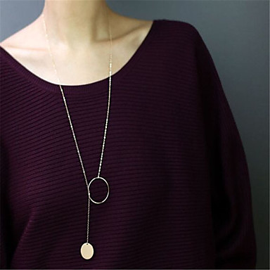 Kadın's Diğerleri şekil Kişiselleştirilmiş Sallantılı Stil Kolye Euramerican Moda minimalist tarzı Uçlu Kolyeler Mücevher Bakır Uçlu