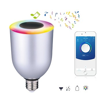 7W E26/E27 مصابيح صغيرة LED 12 مصلحة الارصاد الجوية 5050 600 lm أبيض كول RGB مضاء بلوتوث AC 100-240 V قطعة