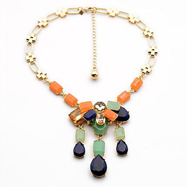 Kadın's Uçlu Kolyeler Damla Eşsiz Tasarım Moda Gökküşağı Mücevher Için Doğumgünü Günlük 1pc