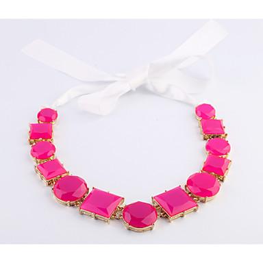 Pentru femei Toroane Coliere Geometric Shape Personalizat bijuterii de lux Roz Bijuterii Pentru Nuntă 1 buc