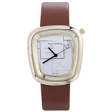 Męskie Modny Zegarek na nadgarstek Unikalne Kreatywne Watch Na codzień Chiński Kwarcowy / drewniany Skóra Pasmo Na co dzień Nowoczesne