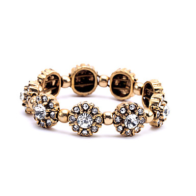 Kadın's Zincir & Halka Bileklikler Mücevher Arkadaşlık Moda alaşım Flower Shape Beyaz Mücevher Için Düğün 1pc