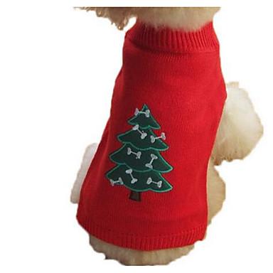 Koira Neulepaidat Koiran vaatteet Joulu Sievä Muoti Piirretty Keltainen Punainen Sininen Musta Asu Lemmikit