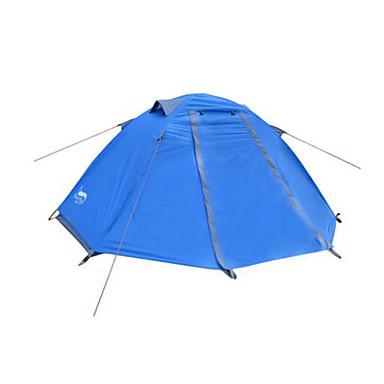 DesertFox® 1 persoană Cort Dublu Cort de campare O cameră Cort Pliant Impermeabil Ultra Ușor (UL) pentru Camping 2000-3000 mm Oxford CM