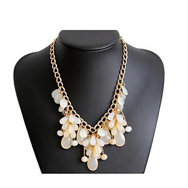 Kadın's Uçlu Kolyeler Çoklu Taşlar Değerli Taş Moda Euramerican Mücevher Uyumluluk Parti Özel Anlar Doğumgünü
