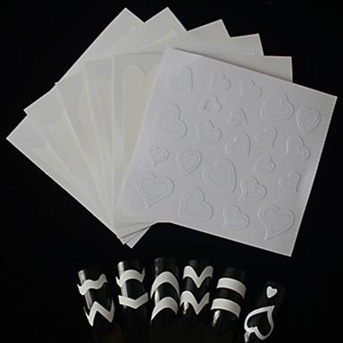 6 ستينسل مانيكير ستيكرز أظافر 3D موضة يوميا جودة عالية