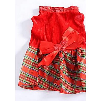 Câine Rochii Îmbrăcăminte Câini Draguț Casul/Zilnic Modă Prințesă Rosu Costume Pentru animale de companie