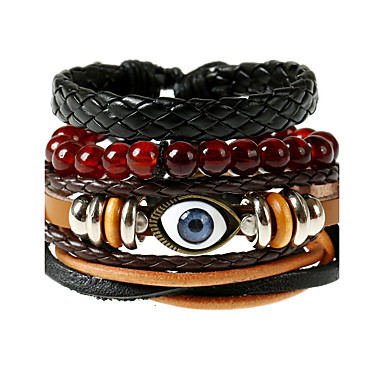 Lederen armbanden - Leder Vintage, Modieus Armbanden Regenboog Voor Bruiloft Feest Sport
