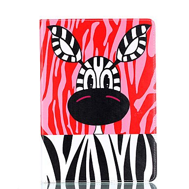 Voor apple ipad mini 4 3 2 1 case cover cartoon patroon kaart stent pu materiaal vlakke bescherming shell