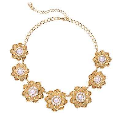 Damskie Pasemka Naszyjniki Flower Shape Słodkie Style Biżuteria Na Prezenty bożonarodzeniowe